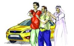 الصورة: يرتشي 9 آلاف درهم عن كل تصريح خاص لتظليل المركبات