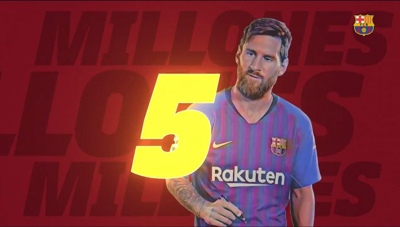 برشلونة النادي الأكثر شعبية في العالم على يوتيوب بـ 5 ملايين متابع