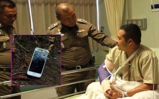 """الصورة: """"آيفون"""" ينقذ شرطيا من الموت"""