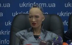 الصورة: شاهد.. المؤتمر الصحفي للروبوت صوفيا في كييف