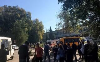 الصورة: مقتل 18 شخصاً في انفجار بإحدى الكليات فى منطقة القرم