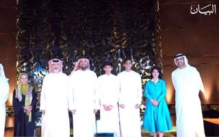 الصورة: تجسيد فني ضخم لآية قرآنية في دبي بارتفاع ثمان أمتار