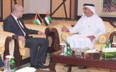 الصورة: سيف بن زايد يلتقي وزير الاتصالات وتكنولوجيا المعلومات الأردني