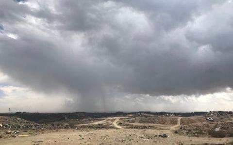 الصورة: تحذير من السحب الممطرة المصحوبة برياح نشطة
