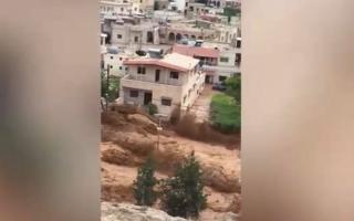 الصورة: بالفيديو.. سيول جارفة تجتاح دمشق بسبب الأمطار الغزيرة
