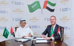 الصورة: الاتحاد للطيران والخطوط السعودية تعلنان عن اتفاقية مشاركة بالرمز