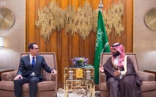 الصورة: محمد بن سلمان يلتقي وزير الخزانة الأميركي