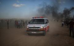 الصورة: استشهاد فلسطيني برصاص الاحتلال في غزة