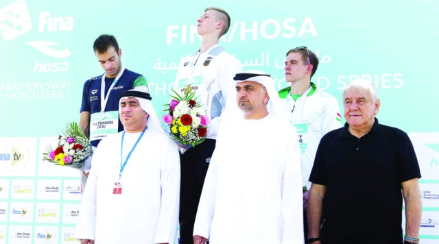 The Abu Dhabi Swimming Pool Wilbrook and Berdy are the Champions