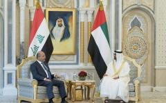 الصورة: محمد بن زايد: استقرار العراق استراتيجي خليجياً وعربياً ودولياً