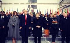 الصورة: ترامب يسخر من ماكرون بعد عودته من باريس