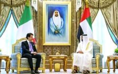 الصورة: محمد بن زايد: الإمارات بقيادة خليفة حريصة على تعزيز العلاقات مع إيطاليا