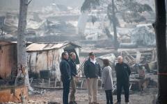 """الصورة: ترامب """"حزين للغاية"""" بسبب حرائق غابات كاليفورنيا"""