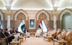 الصورة: محمد بن زايد ورئيس وزراء باكستان يبحثان تعزيز علاقات البلدين