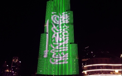 الصورة: محمد بن سلمان  منور الإمارات