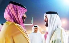 الصورة: محمد بن زايد: الإمارات ستظل سنداً وعوناً لأشقائنا في السعودية