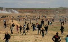 الصورة: إصابة 25 فلسطينياً برصاص الاحتلال في غزة