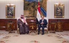 الصورة: الرئيس المصري يستقبل ولي العهد السعودي