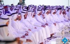الصورة: محمد بن راشد ومحمد بن زايد يشهدان انطلاق الاجتماعات السنوية لحكومة الإمارات
