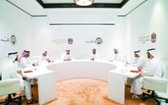 الصورة: محمد بن راشد ومحمد بن زايد: الإمارات بقيادة خليفة تتبنى نهج زايد الوحدوي  في العمل الحكومي
