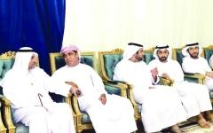 الصورة: حاكم الفجيرة يقدّم واجب العزاء في وفاة حسن الصغيري