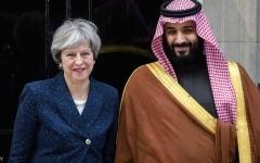 الصورة: ولي العهد السعودي يلتقي رئيسة وزراء بريطانيا