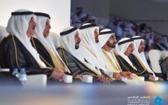الصورة: محمد بن راشد ومحمد بن زايد والحكام يشهدون الاحتفال الرسمي باليوم الوطني الـ 47