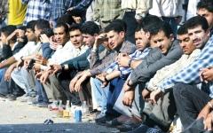 الصورة: شباب غزة يبحثون عن إبرة العيش في كومة القش