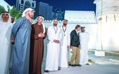 الصورة: محمد بن زايد: «الحصن» يروي إرادة الآباء الصلبة في بناء دولتنا العصرية