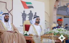 الصورة: محمد بن راشد يرعى حفل تخريج الدفعة الـ 48 من كلية خليفة بن زايد الجوية