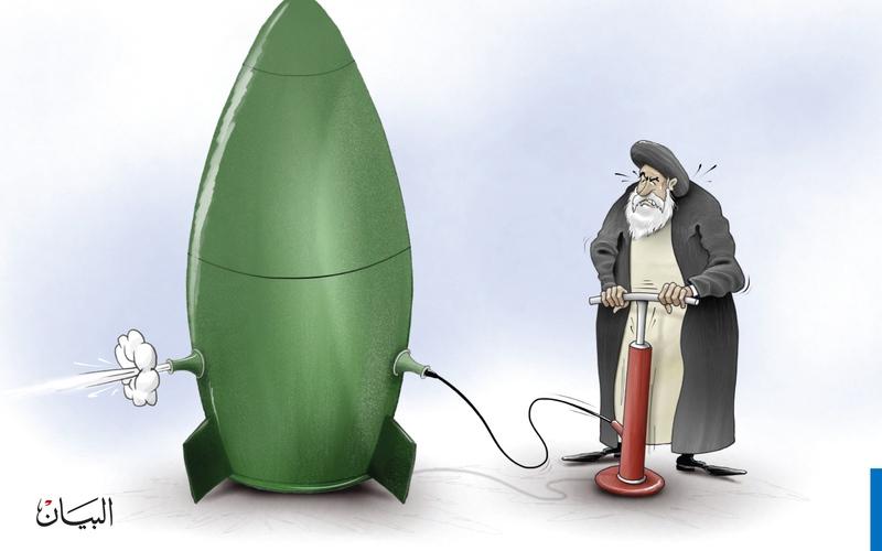 الصورة: تجارب إيران الصاروخية..!