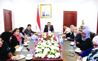 الصورة: رئيس الوزراء اليمني: نسعى لتمكين المرأة من خلال تنفيذ مخرجات الحوار الوطني
