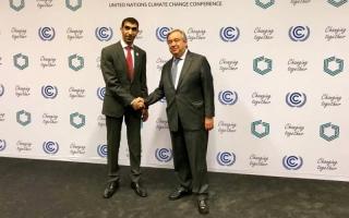 الصورة: الإمارات تدعو إلى تسريع الجهود الدولية لتحقيق بنود اتفاق باريس