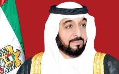 الصورة: خليفة ومحمد بن راشد ومحمد بن زايد يهنئون رئيسة جورجيا