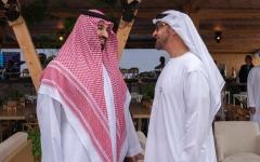 الصورة: محمد بن زايد ومحمد بن سلمان يشهدان ختام منافسات الفورمولا