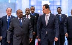 الصورة: الرئيس السوداني يصل العاصمة السورية