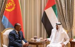 الصورة: محمد بن زايد يبحث مع رئيس إريتريا تعزيز علاقات الصداقة والتعاون