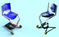 الصورة: ابتكار إماراتي لكرسي  متحـرك للمســـافرين