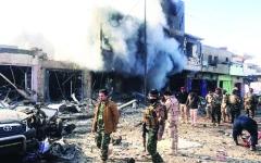 الصورة: 30 قتيلاً ومصاباً بتفجير إرهابي في العراق