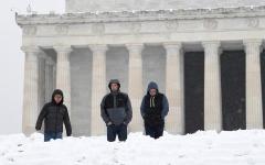 الصورة: شاهد.. عاصفة ثلجية تجتاح أمريكا وتتسبب في مقتل سبعة