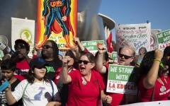 الصورة: المدرسون في لوس أنجلوس يستعدون لأول اضراب منذ 30 عاما