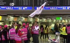 الصورة: إلغاء مئات الرحلات الجوية في مطارات ألمانية بسبب إضراب موظفي الأمن