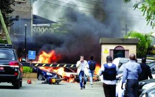 الصورة: قتيل و4 مصابين  بتفجير إرهابي في نيروبي
