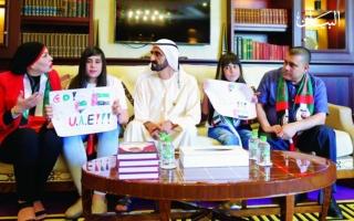 الصورة: مُقبّلة العلم الإماراتي: كأني أعيش في حلم