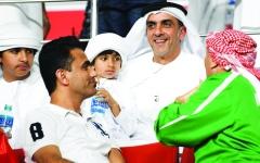 الصورة: الصورة: المشجع العراقي الكرخي: كلمات سيف بن زايد أثلجت صدري