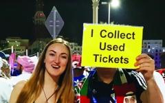 الصورة: الصورة: اسكتلندي يجمع التذاكر لـ «الذكرى»