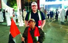 الصورة: الصورة: عجوز إندونيسي يساند منتخبنا