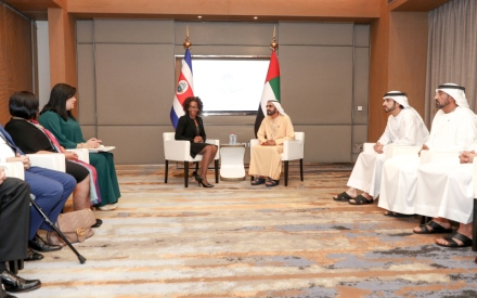 الصورة: الصورة: محمد بن راشد: الإمارات تضع خبراتهـا للإسهام في أي خطة محورها الإنسان