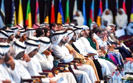 الصورة: الصورة: محمد بن راشد يشهد جلسة المنظمة العالمية للملكية الفكرية