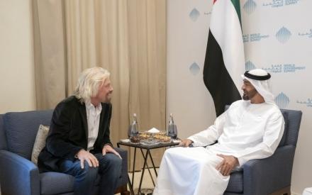 الصورة: الصورة: ولي عهد أبوظبي: الإمارات تسعى لبلوغ أهدافها في علوم الفضاء